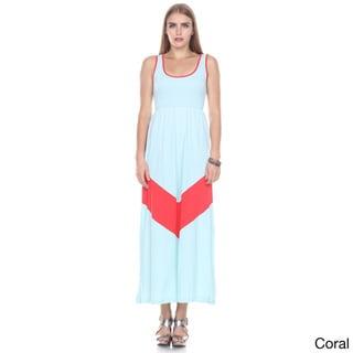 Stanzino Women's Sleeveless Colorblock Tank Maxi Dress