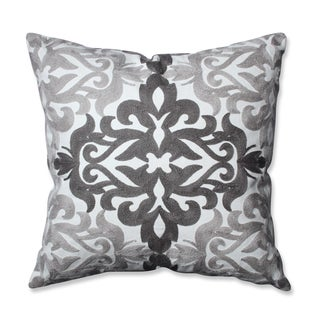 Pillow Perfect Embroidered Grey Geometric 16.5-inch Throw Pillow