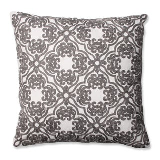 Pillow Perfect Embroidered Grey Damask 16.5-inch Throw Pillow