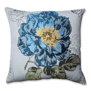 Pillow Perfect Blue Flower Jacquard 16.5-inch Throw Pillow
