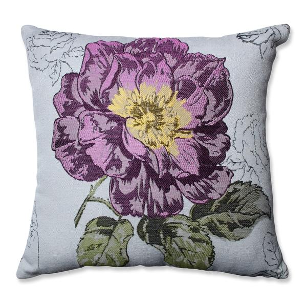 Shop Pillow Perfect Purple Jacquard Flower 16 5 Inch Throw