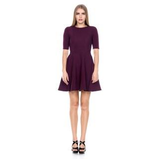 Stanzino Women's Short Sleeve A-line Bodycon Dress