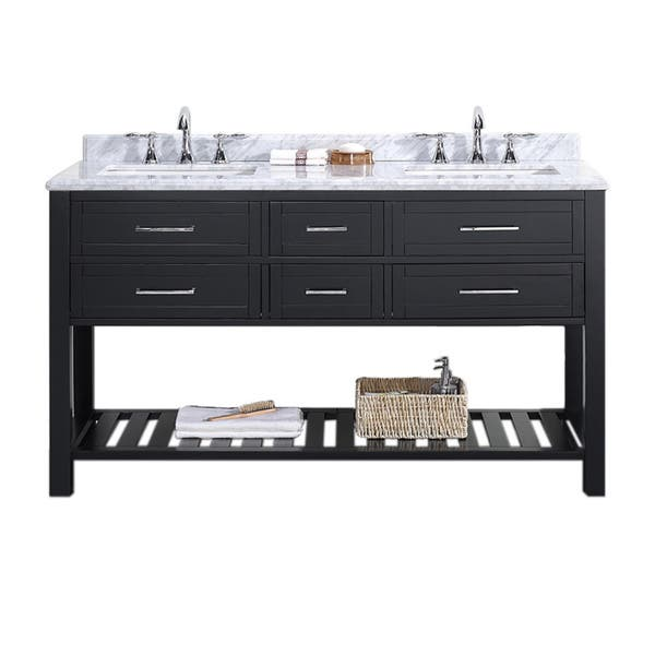 Ove Decors Sarasota 60 Inch Double Sink Bathroom Vanity With Marble Top Overstock 10582521