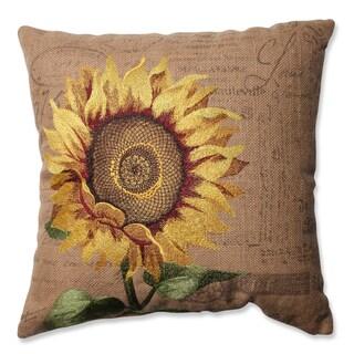 Pillow Perfect Sunflower Burlap 16.5-inch Throw Pillow