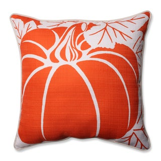 Pillow Perfect Pumpkin Beige 16.5-inch Corded Throw Pillow