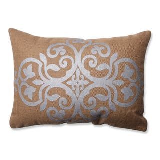 Pillow Perfect Silver Geometric Tan Burlap Rectangular Throw Pillow|https://ak1.ostkcdn.com/images/products/10582535/P17657765.jpg?impolicy=medium