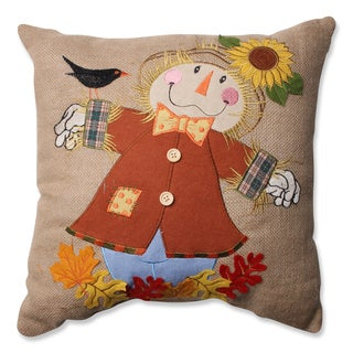 Pillow Perfect Harvest Scarecrow Burlap 16.5-inch Throw Pillow