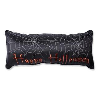 Pillow Perfect Happy Halloween Black Rectangular Throw Pillow