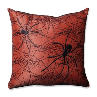 Pillow Perfect Spider Orange 16.5-inch Throw Pillow