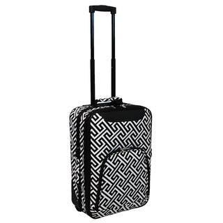 World Traveler Lightweight 20-inch Greek Key Carry-on Rolling Upright Suitcase