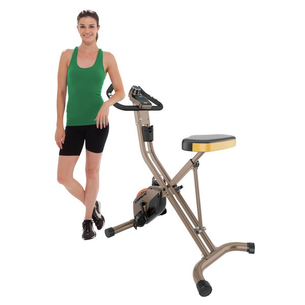 EXERPEUTIC GOLD 500 XLS 400 lb Weight Capacity Foldable Magnetic Upright Bike