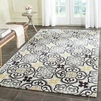 Safavieh Hand-Hooked Four Seasons Blue/ Ivory Polyester Rug - 2'3 x 8'