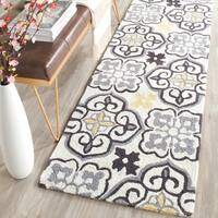 Safavieh Hand-Hooked Four Seasons Grey / Ivory Polyester Rug - 2'3 x 8'