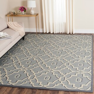 Safavieh Hand-Hooked Four Seasons Light Blue/ Ivory Polyester Rug (8' x 10')