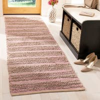 Safavieh Cape Cod Handmade Light Pink Jute Natural Fiber Rug - 2'3 x 8'