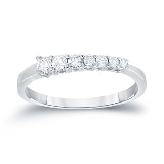 Auriya 14k White Gold 1/2ct TDW Round Cut Diamond Ring (I-J, SI2-SI3)