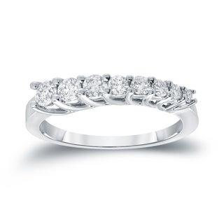 Auriya 14k White Gold 1/2ct TDW Round Cut Diamond Ring