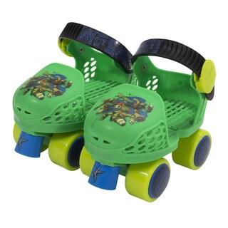 PlayWheels Boys Kids Rollerskate Junior Size 6-12 with Knee PadsJr Skate Combo