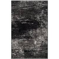 "Safavieh Adirondack Modern Abstract Silver/ Black Rug - 2'6"" x 4'"