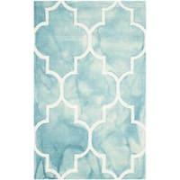 Safavieh Handmade Dip Dye Watercolor Vintage Turquoise/ Ivory Wool Rug (2'6 x 4')