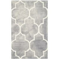 Safavieh Handmade Dip Dye Watercolor Vintage Grey/ Ivory Wool Rug (2'6 x 4')