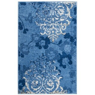 Safavieh Adirondack Vintage Damask Light Blue/ Dark Blue Rug (2'6 x 4')