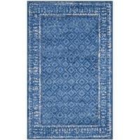 "Safavieh Adirondack Royce Vintage Light Blue/ Dark Blue Rug - 2'6"" x 4'"