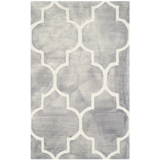 Safavieh Handmade Dip Dye Watercolor Vintage Grey/ Ivory Wool Rug (2' x 3')