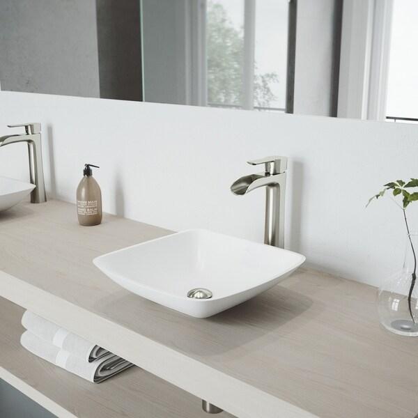 VIGO Niko Brushed Nickel Vessel Bathroom Faucet