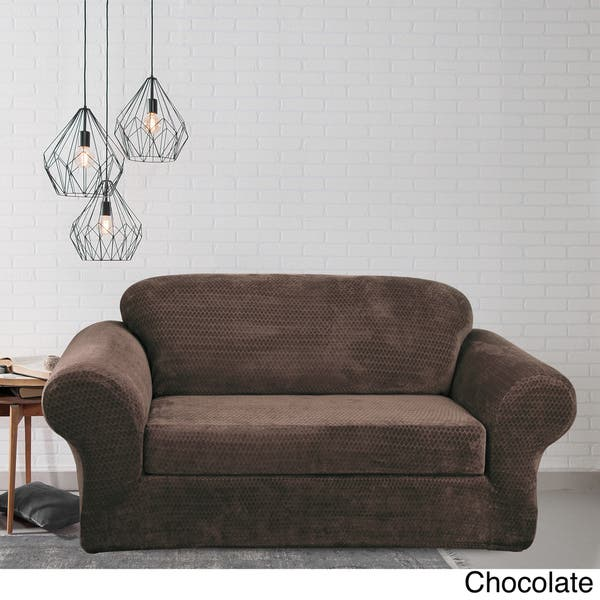 Wondrous Shop Sure Fit Stretch Royal Diamond Two Piece Loveseat Unemploymentrelief Wooden Chair Designs For Living Room Unemploymentrelieforg
