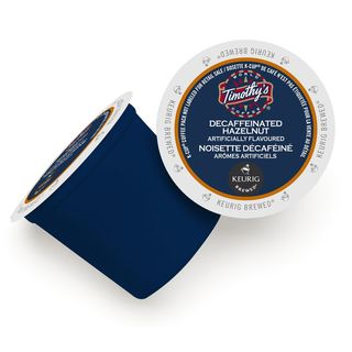 Timothy's Hazelnut Decaf Flavored Coffee K-Cup