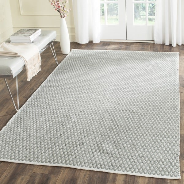 Safavieh Handmade Boston Flatweave Grey Cotton Rug (6' x 9')