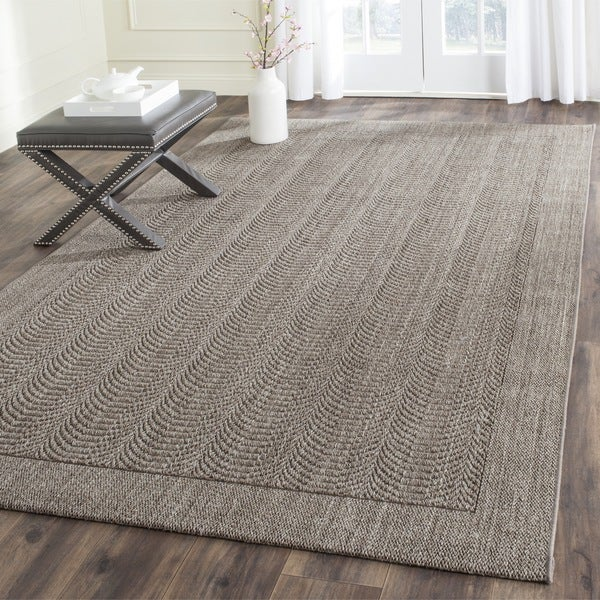Safavieh palm beach silver sisal rug 5 39 x 8 39 free shipping today overstock 17658056 Home goods palm beach gardens