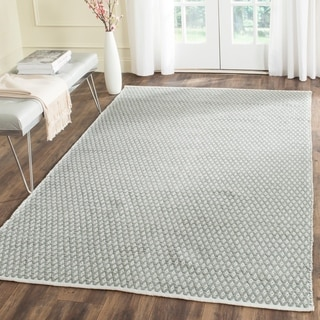 Safavieh Handmade Boston Flatweave Grey Cotton Rug (5' x 8')