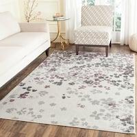"""Safavieh Adirondack Vintage Floral Ivory / Purple Rug - 5'1"""" x 7'6"""""""