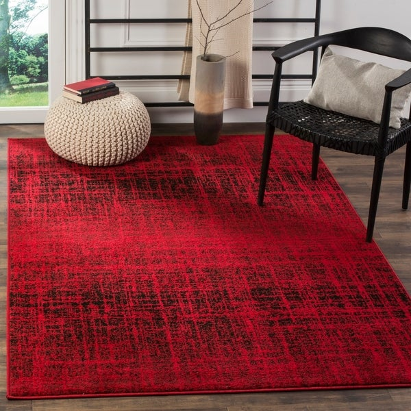 Safavieh Adirondack Modern Abstract Red/ Black Rug - 5'1 x 7'6