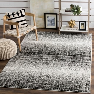 Safavieh Adirondack Modern Abstract Silver/ Black Rug (5'1 x 7'6)