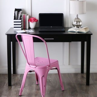 48-inch Black Wood Writing Desk