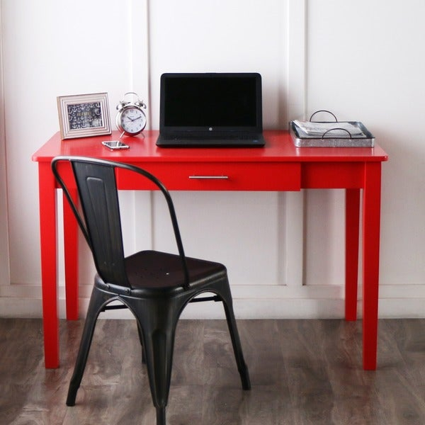 48-inch Red Wood Writing Desk - Free Shipping Today - Overstock.com