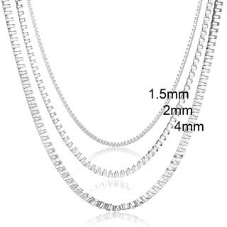 Stainless Steel Venetian Chain Necklace - 22 inches