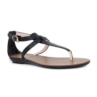 Ted Baker Alzase Black Leather Thong Gladiator Sandals