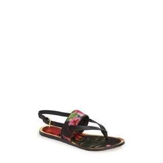 Ted Baker Dendrum Multi-color Floral Fabric Gladiator Sandals