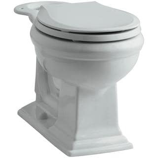 Kohler Memoirs Comfort Height Round Toilet Bowl Only in Ice Grey