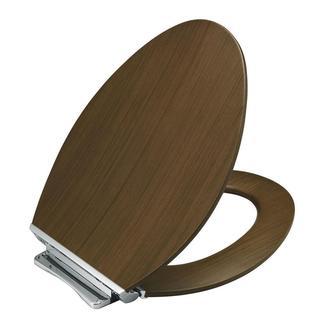 Kohler Avantis Elongated Closed Front Toilet Seat in Light Antique Walnut