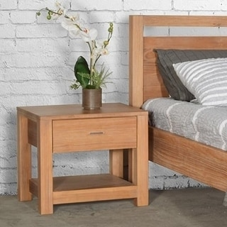 Grain Wood Furniture Loft Solid Wood 1-drawer Nightstand