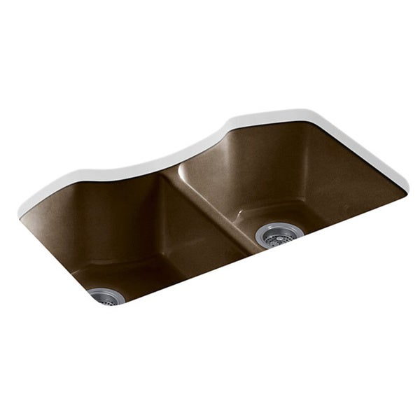 Shop Kohler Bellegrove Undermount Cast Iron 33 Inch 5 Hole Double