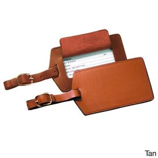 Royce Leather Genuine Leather Luggage Tag (Option: Tan)