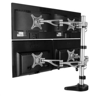 Fleximounts 10 to 27-inch Quad LCD Monitor Stand Desk Mount