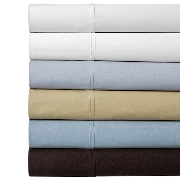100 Percent Cotton Percale 350 Thread Count Sheet Set