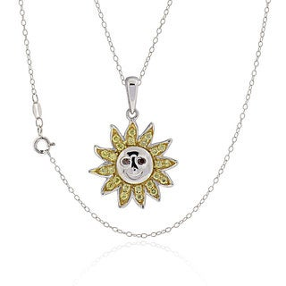 Sterling Silver Round Cubic Zirconia Apollo 18-inch Necklace (China)